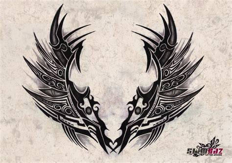 tribal wing tattoo designs subliminal tribal wings 1 by gradle on deviantart