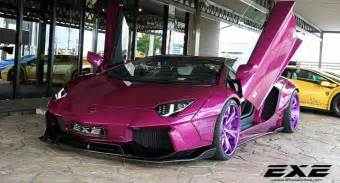 Lamborghini Purple Purple Lamborghini Aventador Is What Happens When Tuning