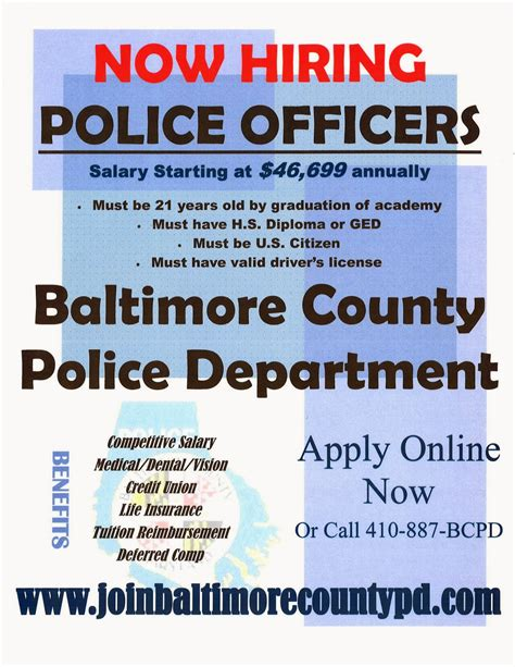 Ccjs Undergrad Blog Baltimore County Police Department Now Hiring Hiring Flyer Template