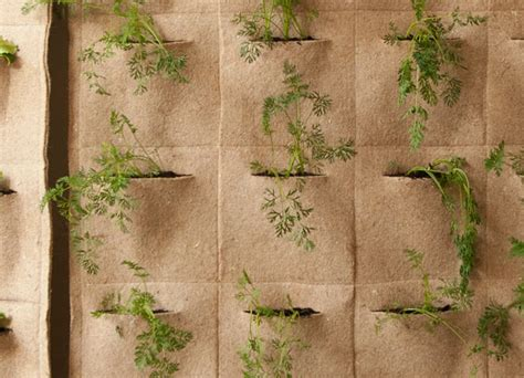 Vertical Garden Pouches Ortofabbrica Living Wall Pouches Notcot