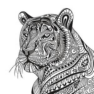 abstract ornamental tiger stock illustration image 68590602