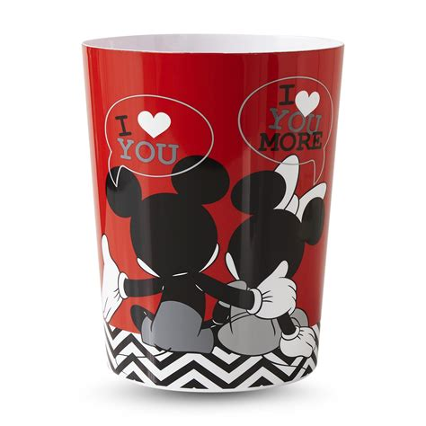 mickey and minnie mouse bathroom set disney mickey minnie mouse wastebasket home bed
