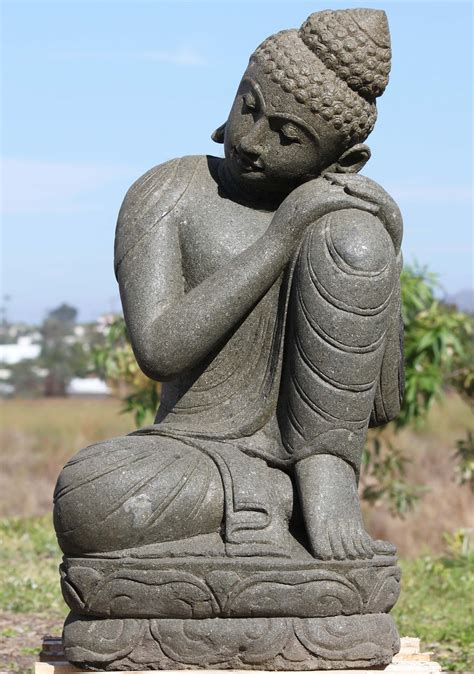 buddha statues or sculptures buddhist statue and hindu sold stone resting buddha garden statue 34 quot 102ls412