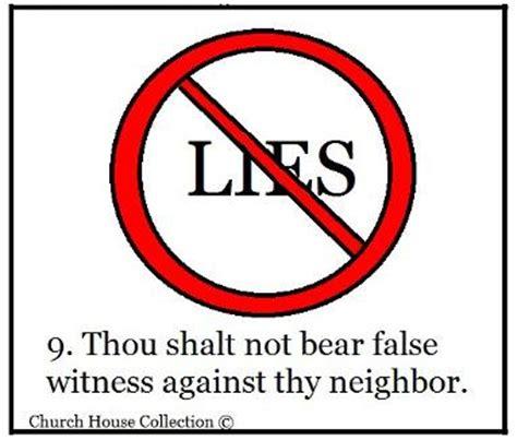 definition borne false witness thou shalt not lie sunday school lesson