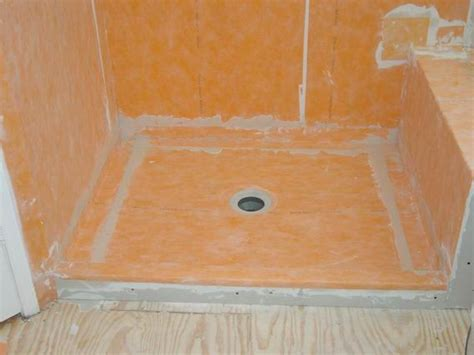 shower floor waterproof membrane lends to better design
