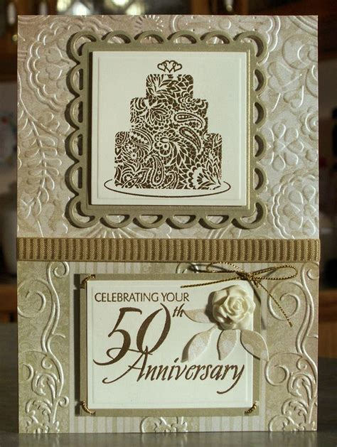 Handmade 50th Wedding Anniversary Cards - 17 best ideas about 50th anniversary cards on