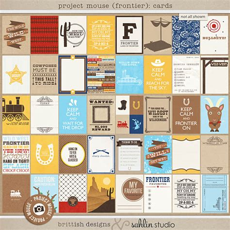 Frontier Gift Card - project mouse frontier journal cards by britt ish designs and sahlin studio