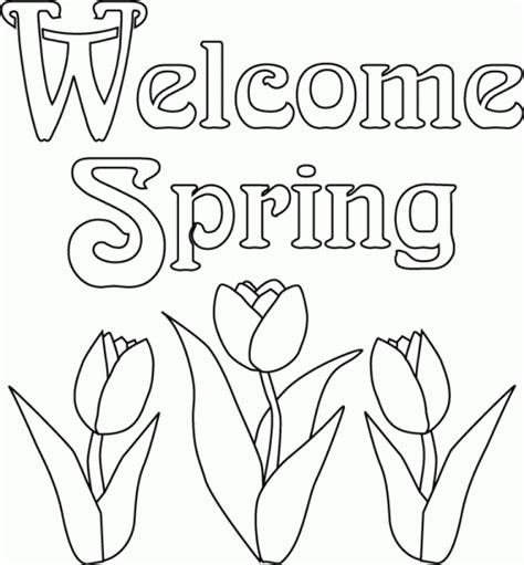 get this easy printable spring coloring pages for children