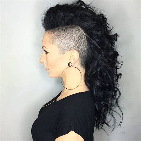 mohawk hairstyles ll eaving hair long at back of head 35 stunning curly mohawk hairstyles cuteness and