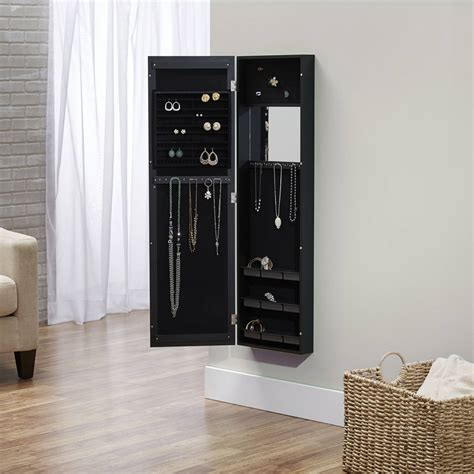 over the door hanging jewelry armoire over the door wall hanging mirrored jewelry armoire