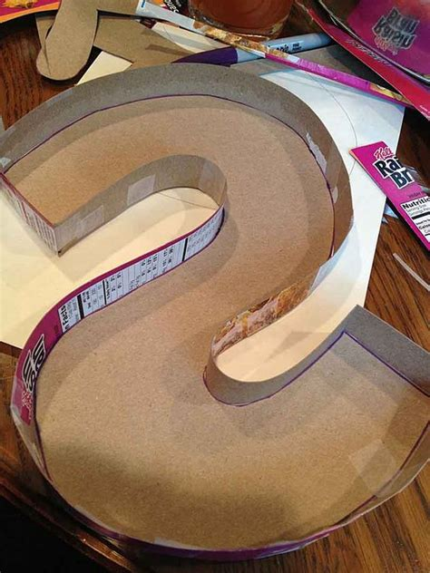 How To Make Paper Letters 3d - another yarn covered monogram letter tutorial includes