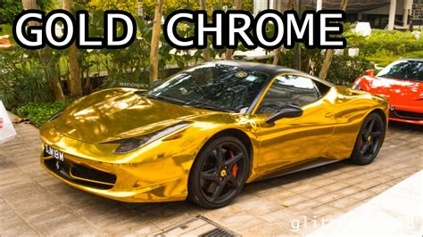 chrome ferrari 458 gold chrome ferrari 458 italia youtube