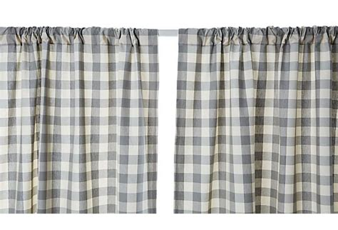 gray buffalo check curtains buffalo check cotton curtain panel gray