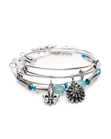 Bloemy Syari Set 3 alex and ani strength in bloom set of 3 expandable wire bangles charity by design