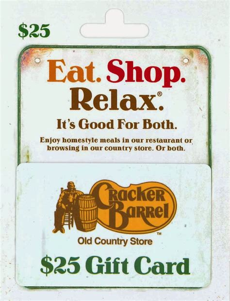 Cracker Barrell Gift Card - sasaki time giveaway cracker barrel 25 gift card