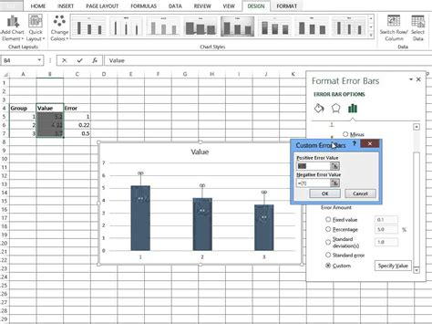 adding error bars to charts in excel 2013 nathan brixius simple custom error bars excel 2013 youtube