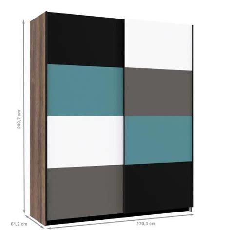 cdiscount armoire de chambre armoire de chambre contemporain multicolore l 170