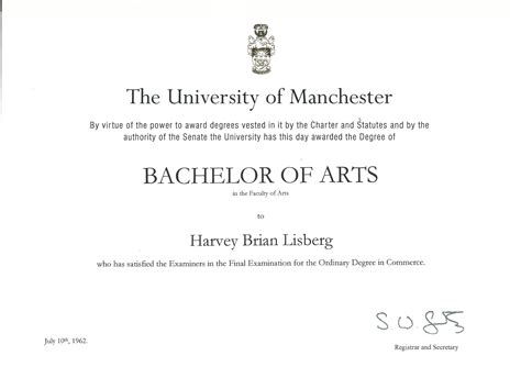 how to write bachelor of arts degree on resume credentails harvey lisberg