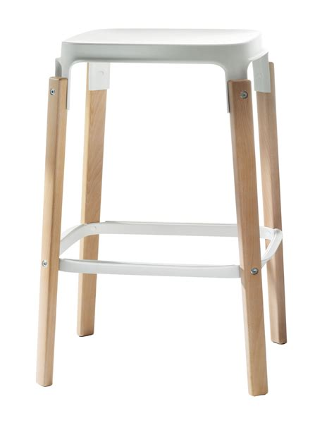 steelwood high stool two toned version h 68 cm