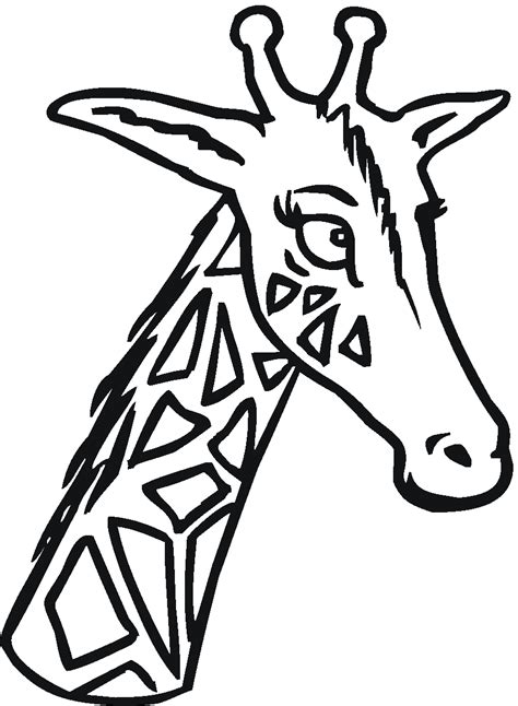 giraffe head coloring pages free coloring pages of giraffe outline