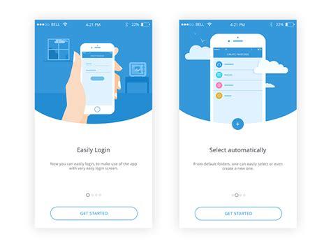design app walkthrough walkthrough for a locker app uplabs