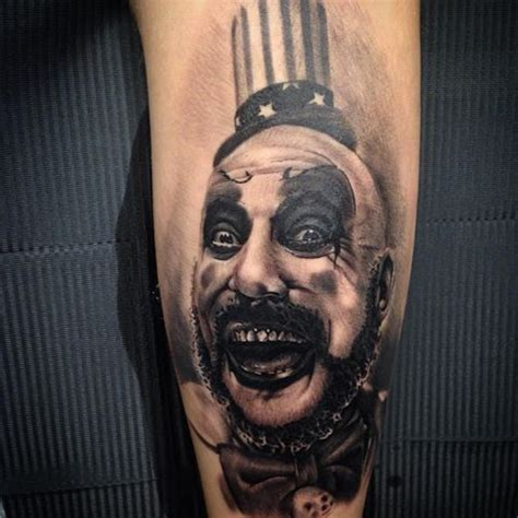 captain spaulding tattoo 68 best captain spaulding tattoos images on