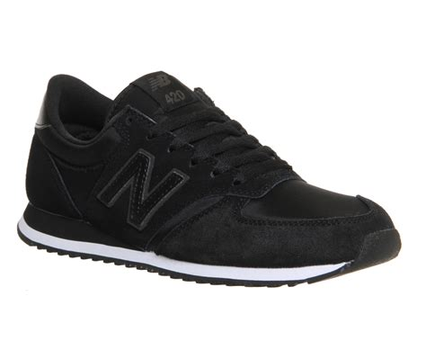 new balance 420 suede and neoprene low top sneakers in