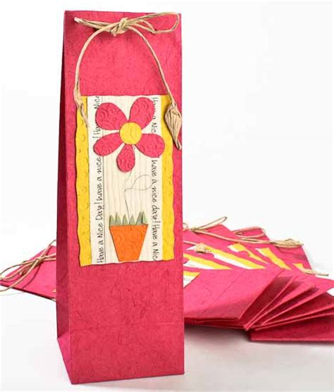 Handmade Paper Gift Bags - handmade paper wine gift bags set of 10 gift bags
