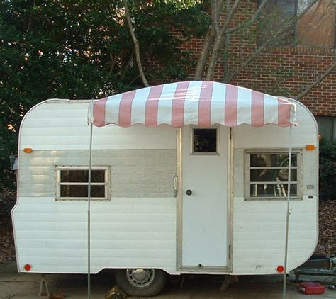 travel trailer awnings vintage awnings pictures of a 6 x 6 arched up vintage