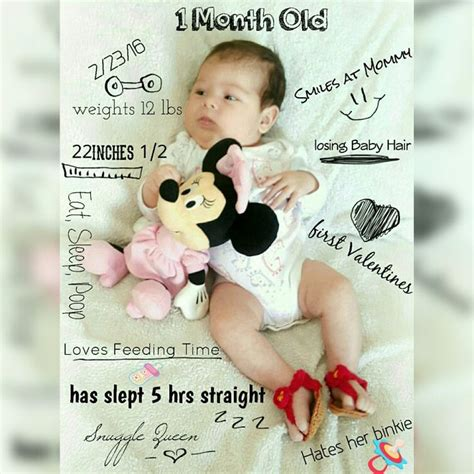 1 Month Baby Celebration - really one month baby picture monthly baby