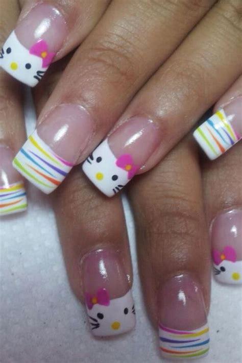 imagenes de uñas hello kitty cute hello kitty nail art designs hative