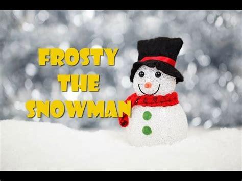 frosty  snowman lyrics video instrumental  karaoke youtube
