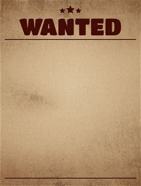 printable wanted poster background blank wanted poster pictures to pin on pinterest pinsdaddy