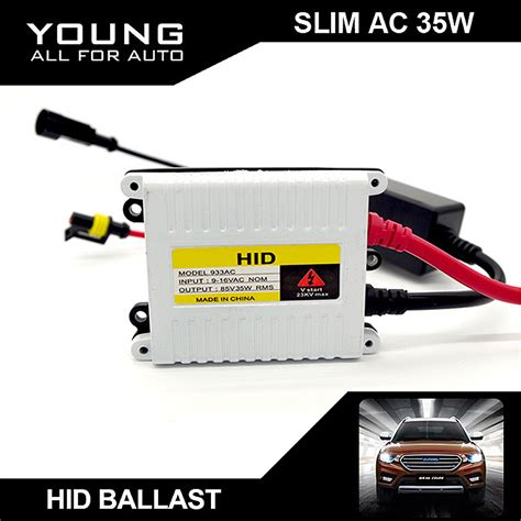 Lu Mobil Hid Xenon Ac Ballast Conversion Kit Type H4 Garansi aliexpress buy 1pcs slim ac9 16v 35w xenon hid ballast electronic digital conversion