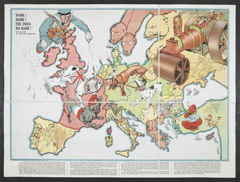 libro war map pictorial conflict a world war i conflict map for children that depicted the world powers as dogs