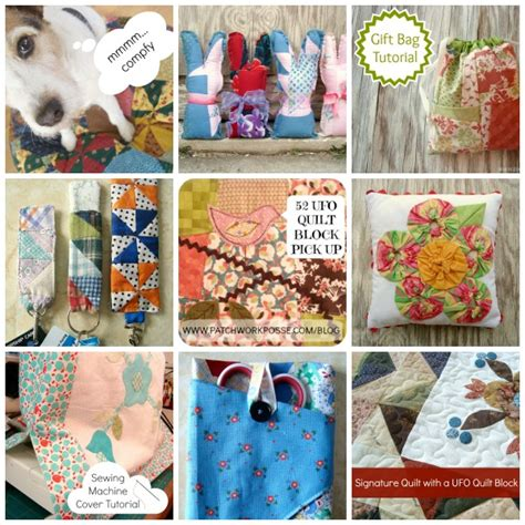 50 Bag Tutorials Patchwork Posse Easy Sewing Projects - 50 easy sewing projects for orphan quilt blocks