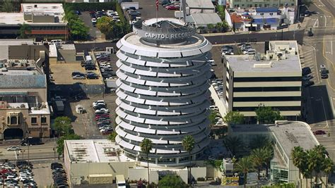 California Records 2012 Los Angeles California Usa March 22 2012 Aerial Of Capitol Records Building