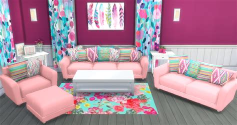 cc furniture sims 4 sunshine roses custom content bohemian summer hydrogen
