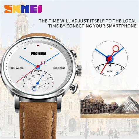 Skmei Jam Tangan Analog Smartwatch H8 Skmei Jam Tangan Analog Smartwatch H8 Silver Black Jakartanotebook