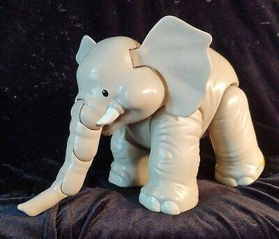 fisher price  people big animal zoo elephant toy  sound articulated ebay