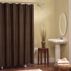 shower curtain solid brown bathroom boost