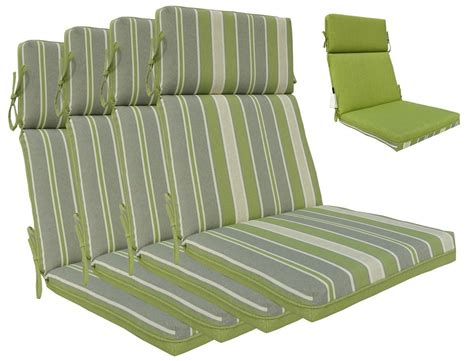 High Back Chair Cushions Outdoor Furniture Greendale High Back Patio Chair Cushions