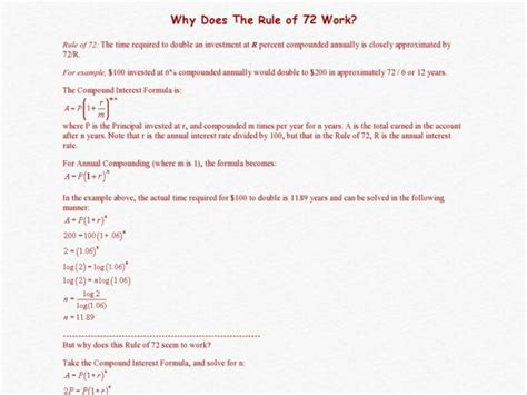 The Rule Of 72 Worksheet Answers by Rule Of 72 Worksheet Free Worksheets Library