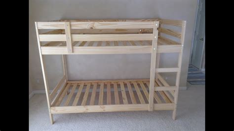 ikea mydal bunk bed assembly tips  tricks tutorial