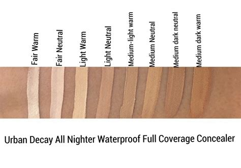 Decay Concealer decay all nighter concealer review swatches cali