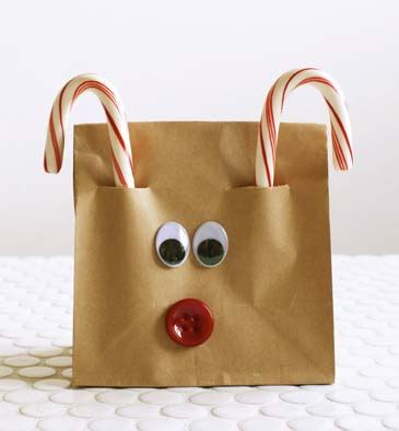 Reindeer Paper Bag Craft - make magical for growing a jeweled