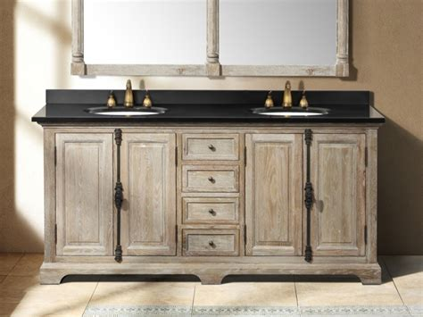 double bathroom sink countertop rustic bathrooms farmhouse vanity 72 inch driftwood grey