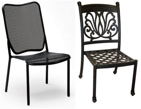 Metal Outdoor Dining Chairs Metal Outdoor Dining Chairs Choozone