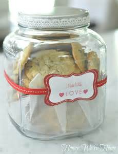 homemade cookies in a gift jar honey we re home