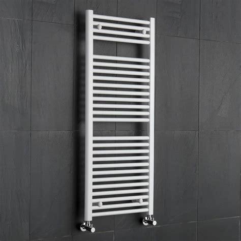 heated towel rail radiator bathroom white flat ladder style bathroom heated towel radiator